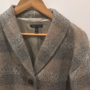 Eileen Fisher Jackets & Coats - Eileen Fisher Plaid Topper Coat